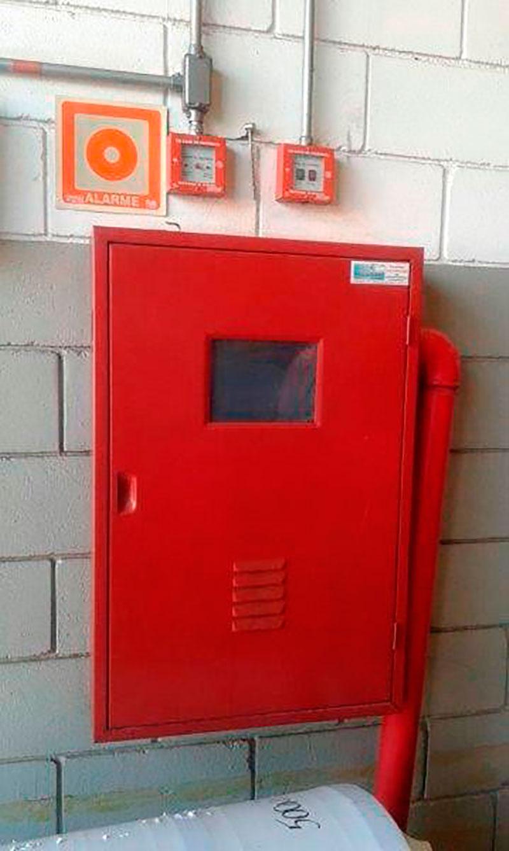 Instalação de sistema de incêndio